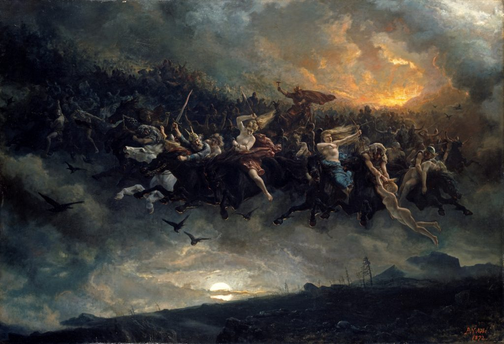 The Wild Hunt of Odin, by Peter Nicolai Arbo (1872)